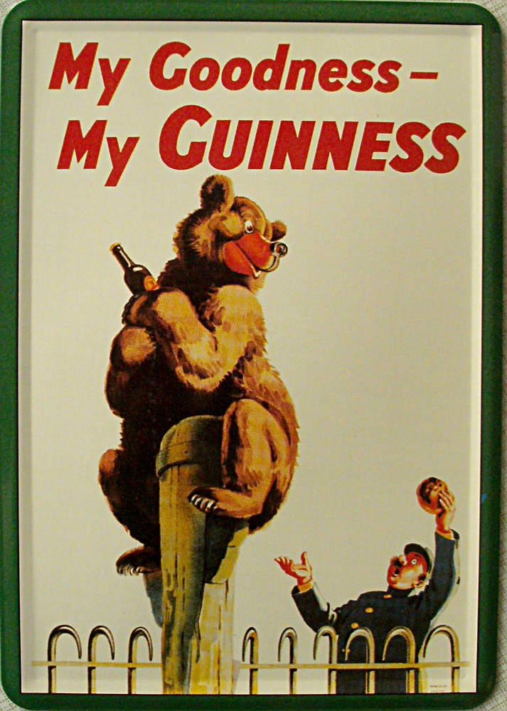 Blechpostkarte * Guinness - Bär * - Blechpostkarten - Getränke